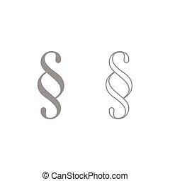 Paragraph symbol icon. Grey set .
