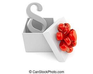 Paragraph symbol inside gift