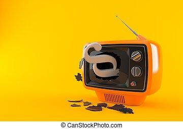 Paragraph symbol inside tv
