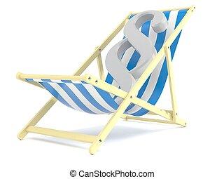 Paragraph symbol on deck chair