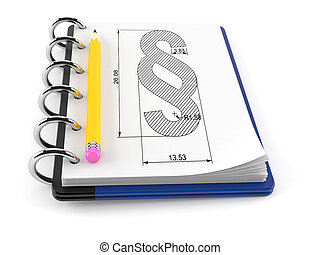 Paragraph symbol on notepad