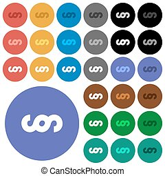 Paragraph symbol round flat multi colored icons