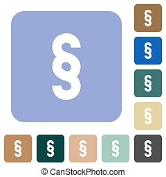 Paragraph symbol rounded square flat icons