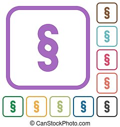 Paragraph symbol simple icons
