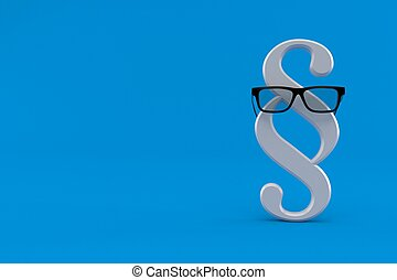 Paragraph symbol with glasses