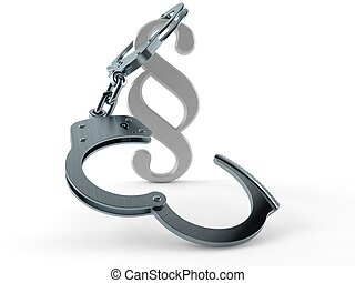 Paragraph symbol with handcuffs