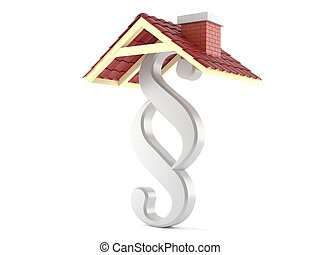 Paragraph symbol with roof