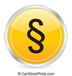 paragraph symbol yellow circle icon