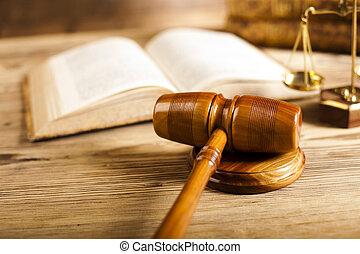 paragraphe, concept, justice, marteau, bois, droit & loi