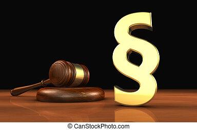 paragraphe, symbole, droit & loi, concept