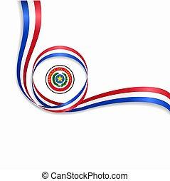 paraguaio, ondulado, bandeira, experiência., vetorial, illustration.