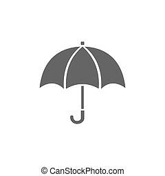 paraguas blanco, aislado, plano de fondo, icono