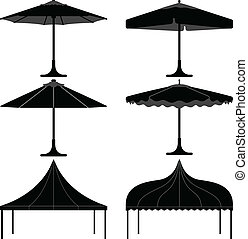 paraguas, dosel, campo, gazebo, tienda