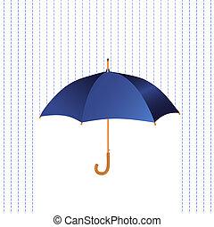 paraguas, icono, con, lluvia