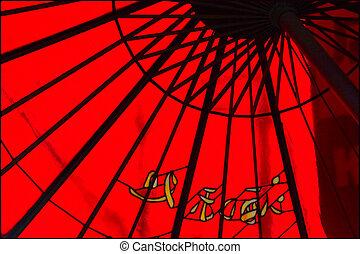 paraguas, japonés