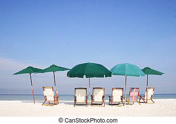 paraguas playa, grupo