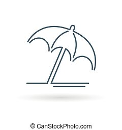 paraguas, recurso, signo., icon., símbolo., verano, sol, ...
