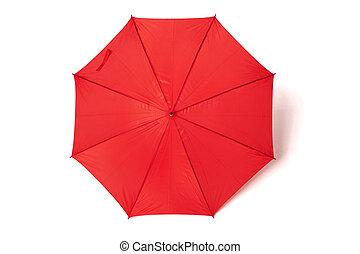 paraguas, rojo