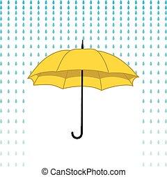 paraguas, tarjeta, lluvia