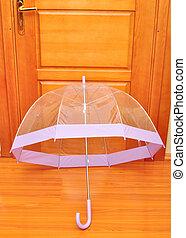 paraguas, transparente