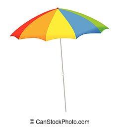 paraguas, vector, ilustración