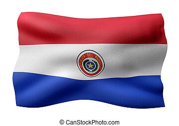 Paraguay 3d flag - 3d rendering of a national Paraguay flag...