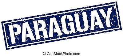 paraguay, carré bleu, timbre