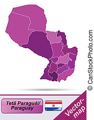 paraguay, carte