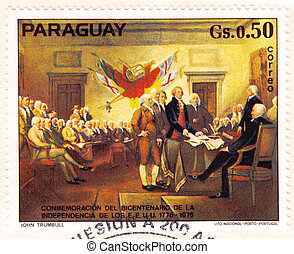 PARAGUAY - CIRCA 1976: stamp printed in Paraguay shows ...