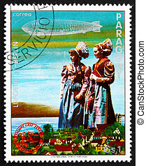PARAGUAY - CIRCA 1977: a stamp printed in Paraguay shows ...