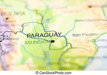 paraguay country on map
