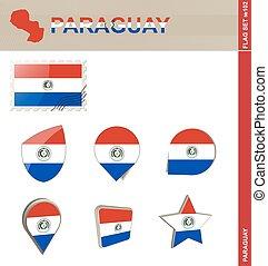 paraguay, ensemble, drapeau, ensemble