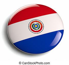 Paraguay flag design round badge.