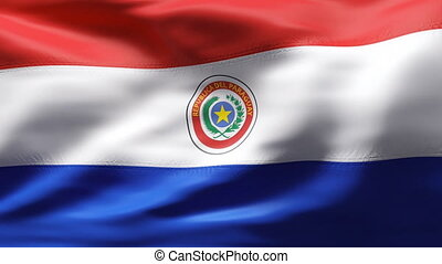 PARAGUAY  flag in slow motion