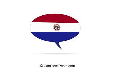 Paraguay Flag Speech Bubble