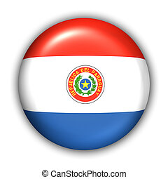 Paraguay Flag - World Flag Button Series - South America - ...