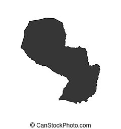 Paraguay map silhouette