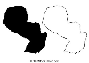 Paraguay map vector
