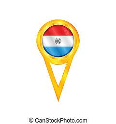 Paraguay pin flag