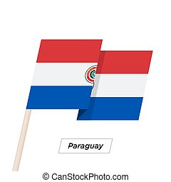 Paraguay Ribbon Waving Flag Isolated on White. Vector ...