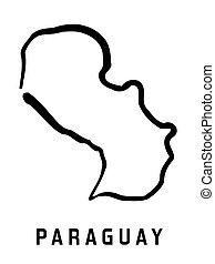 paraguay, semplice, mappa