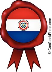 paraguay, sigillo cera