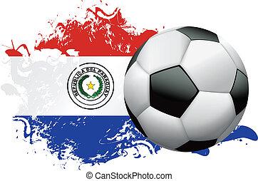 Paraguay Soccer Grunge Design