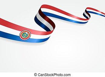 paraguayan, bandera, tło.