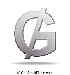 Paraguayan guarani currency symbol, vector illustration on white background