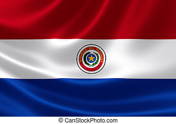 Paraguay's National Flag - 3D rendering of the flag of ...