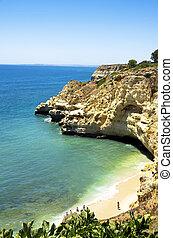 Paraiso beach near Carvoeiro town, Algarve region, Portugal
