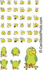 parakeet cartoon set