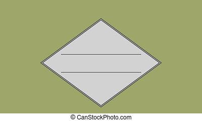 parallèle, carrée, ligne