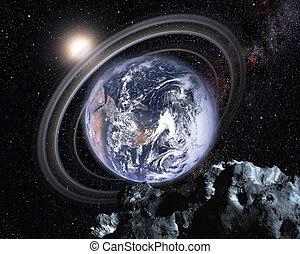 parallèle, univers, la terre